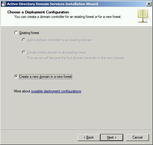 Choose Deployment Configuration